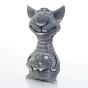 Кот худой с рыбой (авторск.)