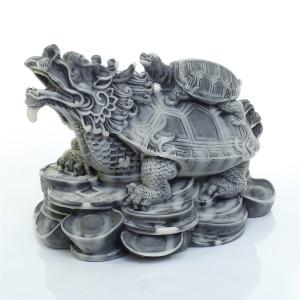 Дракон-черепаха на монетах (большой)